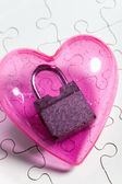 Pink heart and lock — Stock Photo