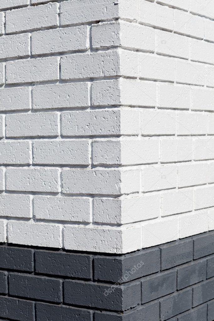 Esquina de la pared de ladrillo blanco fotos de stock - Pared ladrillo blanco ...