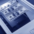 Stock Photo: Scanner and dollar