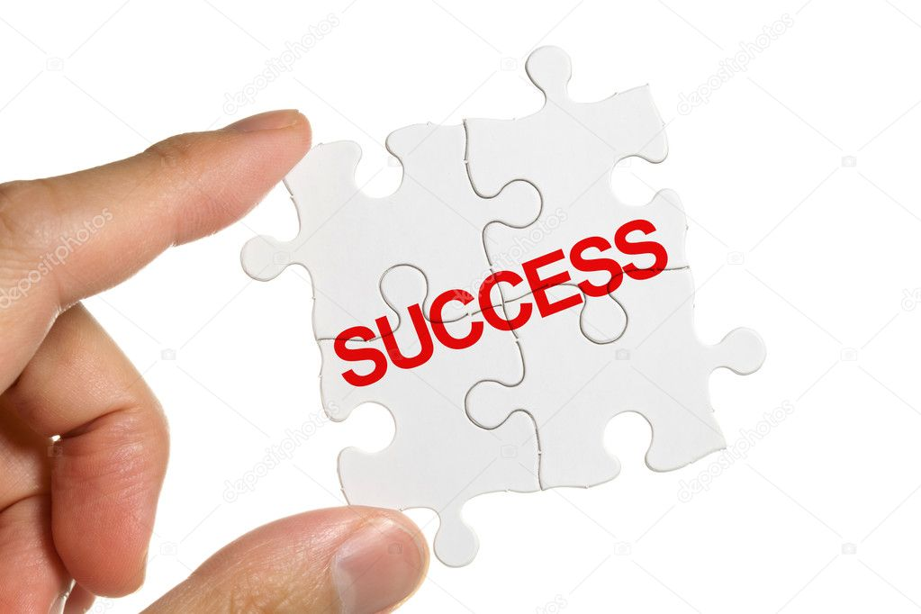 Puzzle and word Success, business concept — Stock Photo #7890049