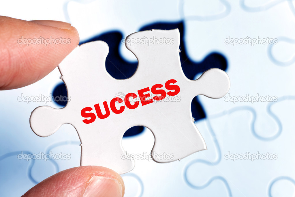 Puzzle, business concept of Success — Stock Photo #7903867