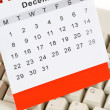 Calendar and Keyboard — Stockfoto