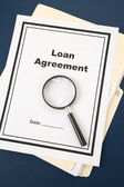 Loan Agreement — Stock Photo