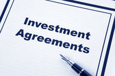 Investment Agreement — Stock Photo