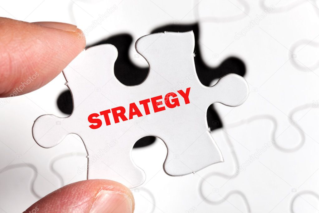 Puzzle, business concept of Strategy — Stock Photo #7913401