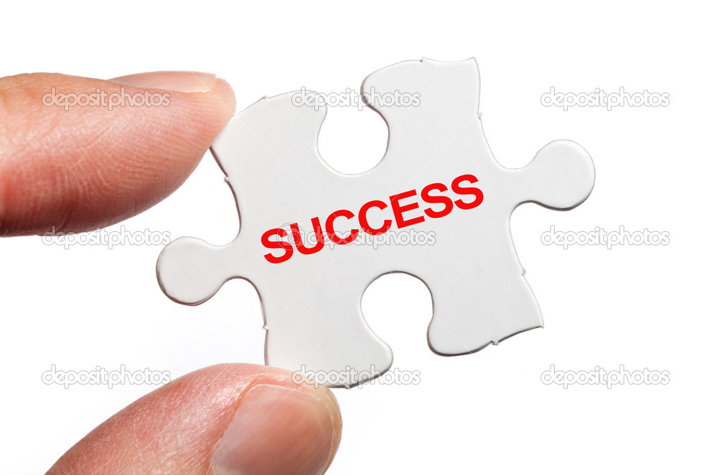 Puzzle and word Success, business concept — Stock Photo #7913462