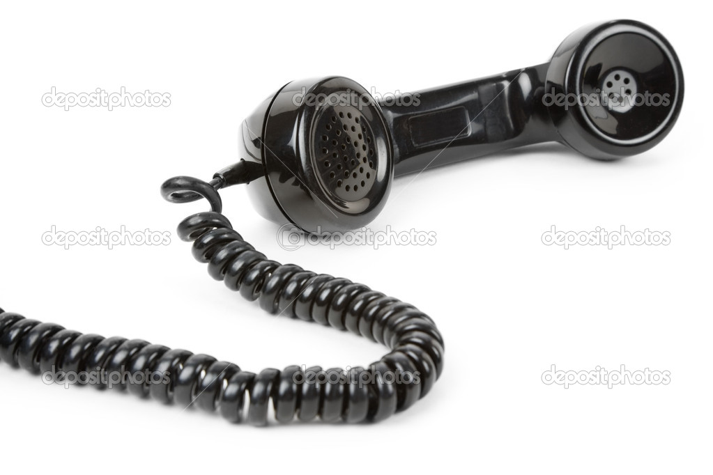 Black telephone Receiver with white background — Stock Photo #7914365