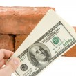 Red Brick and Dollar — Stock Photo