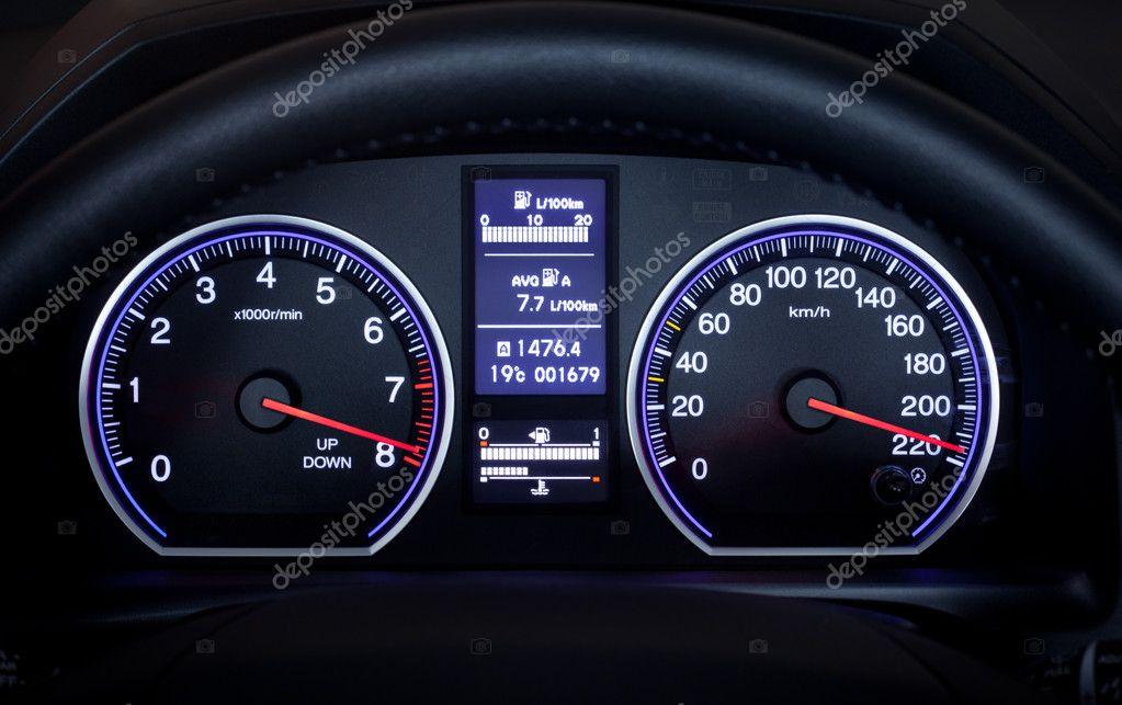 Illuminated car dashboard. — Stock Photo © jurisam #6826967