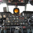 Stock Photo: Old airplane cockpit