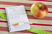 New Year's resolutions list — Stock Photo