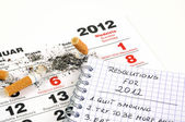 New Year's resolutions - quit smoking — Stock Photo