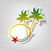 Vector logo on a beach theme — Stock Vector