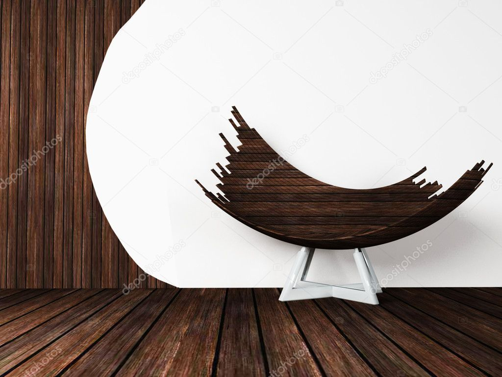 Creative wooden chair. I used  — Stock Photo #6820623
