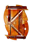 Creatieve houten samenstelling — Stockfoto