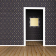 Interior design scene with a doorway — Stock Photo