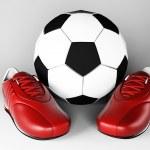 ������, ������: Sneakers near soccer ball