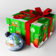 New Year's gift and toy for the Christmas tree — Stock Photo