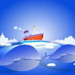 Arctic Ocean — Stock Vector