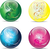 четыре шарика — Cтоковый вектор