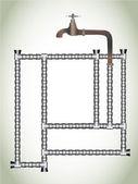 Vattentillförseln — Stockvektor