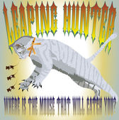 Leaping cat — Stock Vector