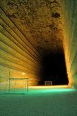 Fotbalové hřiště podzemní — Stock fotografie