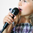 Girl sings christisong — Stock Photo #7331144