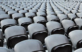 A rows black seats — Stock Photo