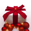 Royalty-Free Stock Photo: Christmas Gift with Balls