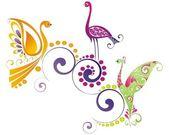 Vector colorful birds — Stock Vector
