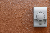 Air conditioning control panel on wall — Stock Photo