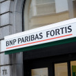 BNP Paribas Fortis sign - Stock Photo
