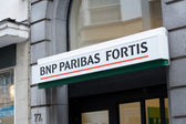 BNP Paribas Fortis sign — Stock Photo