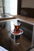 A glass of Turkish tea — Stock Photo