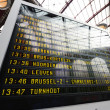 Stockfoto: Train station departure display