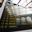 Foto de Stock  : Train station departure display
