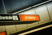 Subway station sign, Vienna, Austria — Stock Photo