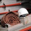 Firefighting truck equipment — Stock Photo