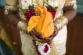 Indisk brud med henna design — Stockfoto