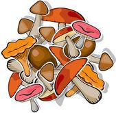 Mushroom forest set vector — Stock Vector