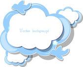 Cloud vector — Stock Vector