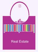 Real estate bag — Stock Vector