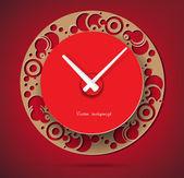 Rode klok vector — Stockvector