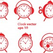 Red clock vector — Stock Vector #7283445