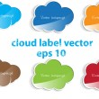 Cloud set label vector — Stock Vector