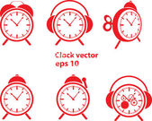 Red clock vector — Stock Vector