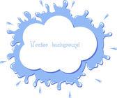 Cloud splash vector — Stock Vector