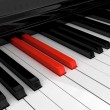 Piano red key — Stock Photo