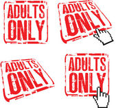 Adults only — Vector de stock